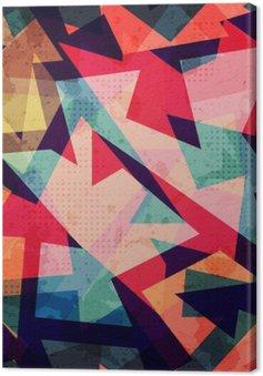 Canvas Grunge, geometrische naadloze patroon