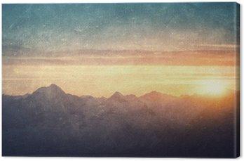 Canvas Grunge gestileerde lanscape