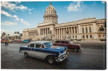 Canvas Havana, Cuba - op juni, 7. hoofdstad bouw van Cuba, 7e 2011.