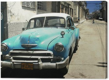 Canvas Havana straat - dwarsproces