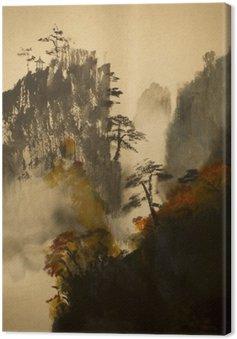 Canvas Herfst in de bergen van China