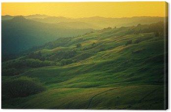 Canvas Het landschap van Noord-Californië