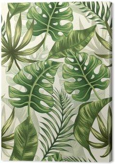 Canvas Het patroon van bladeren