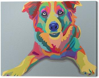 Canvas Hond pop-art