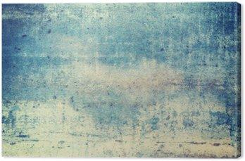 Canvas Horizontaal georiënteerd blauw gekleurde grunge achtergrond