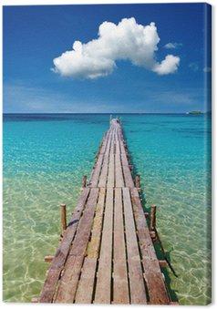 Canvas Houten pijler, Kood eiland, Thailand