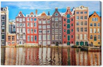 Canvas Huizen in Amsterdam
