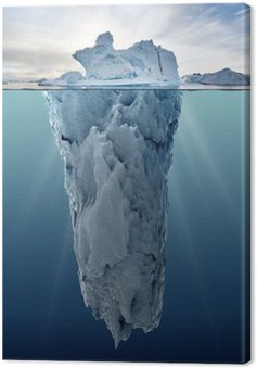 Canvas Ijsberg met onderwater bekijken