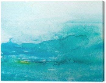 Canvas Kleur lijnen aquarel schilderij kunst