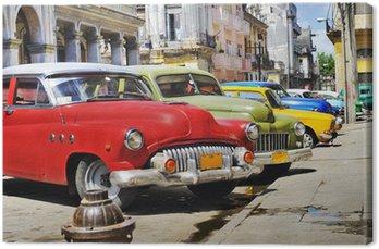 Canvas Kleurrijke Havana auto