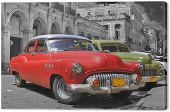 Canvas Kleurrijke Havana dure foto