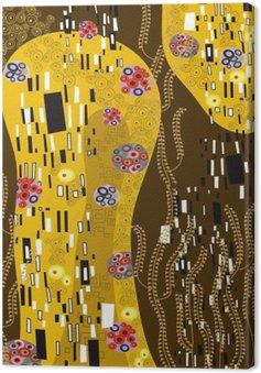 Canvas Klimt geà ¯ nspireerd abstracte kunst