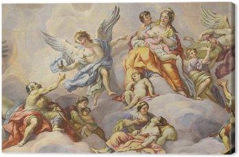 Canvas Koepel van de kerk van St. Charles, Wenen