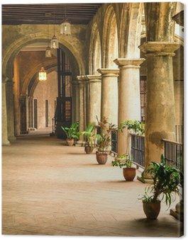 Canvas Koloniale paleis in Oud Havana