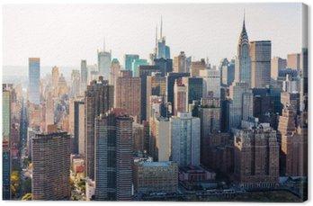 Canvas Luchtfoto van de skyline van New York City