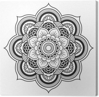 Canvas Mandala. Rond Ornament Patroon