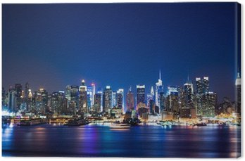 Canvas Manhattan skyline van New York