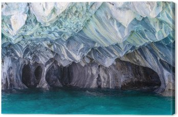 Canvas Marble Caves of meer General Carrera (Chili)