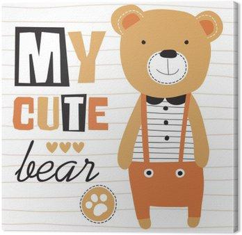 Canvas Mijn schattige teddybeer vector illustratie