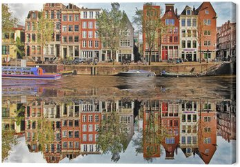 Canvas Mooie Amsterdam, Holland