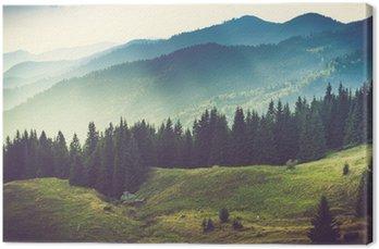 Canvas Mooie zomer berglandschap