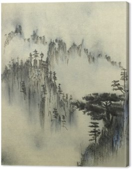 Canvas Mountain Pine en mist