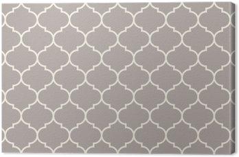 Canvas Naadloos antracietgrijs breed marokkaans patroon vector
