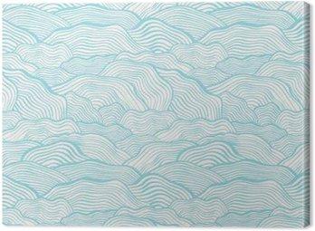 Canvas Naadloos patroon met golvende schaal textuur