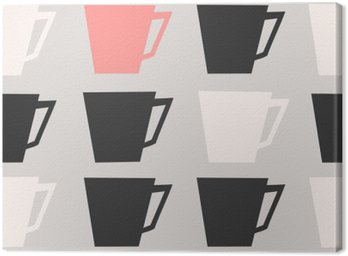 Canvas Naadloze Coffee Cups Pattern
