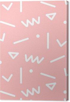 Canvas Naadloze geometrische patroon