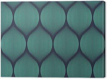 Canvas Naadloze neon blauwe optische illusie geweven patroon vector