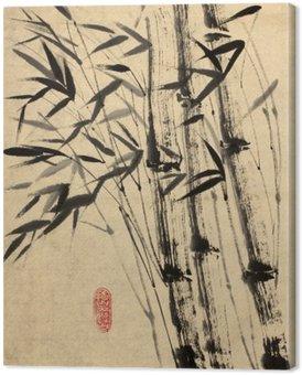 Canvas Originele tekening van bamboe