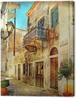Canvas Picturale oude straten van Griekenland