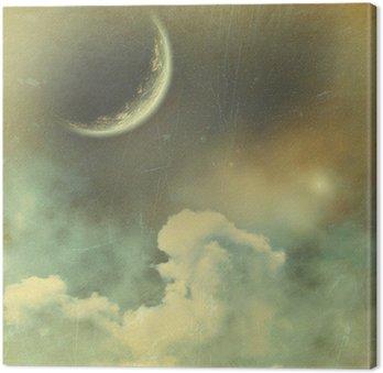 Canvas Planeet in de ruimte vintage achtergrond