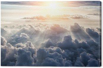 Canvas Prachtige blauwe hemel