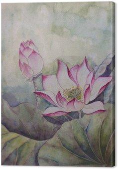 Canvas Prachtige bloeiende lotus