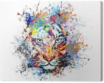 яркий фон с тигром