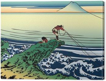 Canvas Print 葛飾北斎 富嶽三十六景 甲州石班澤のイラスト