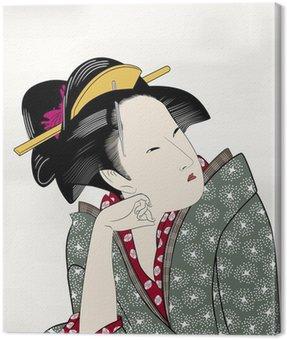 Canvas Print 浮世絵 江戸美人画15