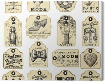 16 french retro labels