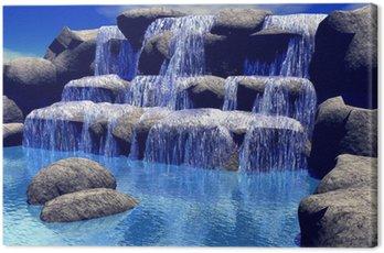 3d waterfall