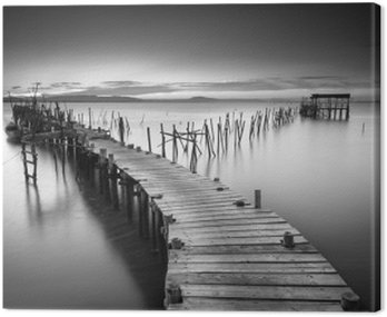 Canvas Print A peaceful ancient pier