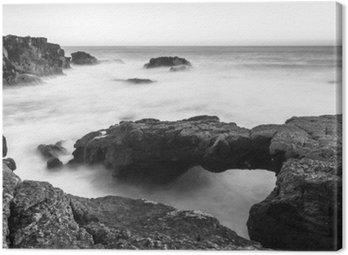 Canvas Print A stone bridge to the the ocean