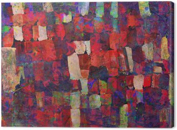 Abstract art painting Canvas Print