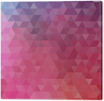 Abstract color triangle background Canvas Print