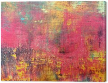 Canvas Print abstract colorful hand painted canvas texture background