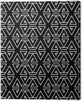 Abstract geometric black and white hipster fashion pillow pattern