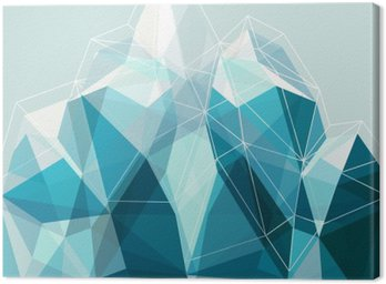 Canvas Print Abstract geometry blue mountain