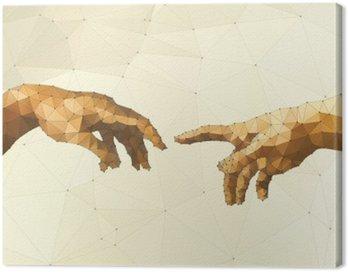 Abstract God's hand vector illustration