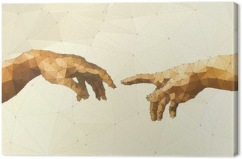 Canvas Print Abstract God's hand vector illustration